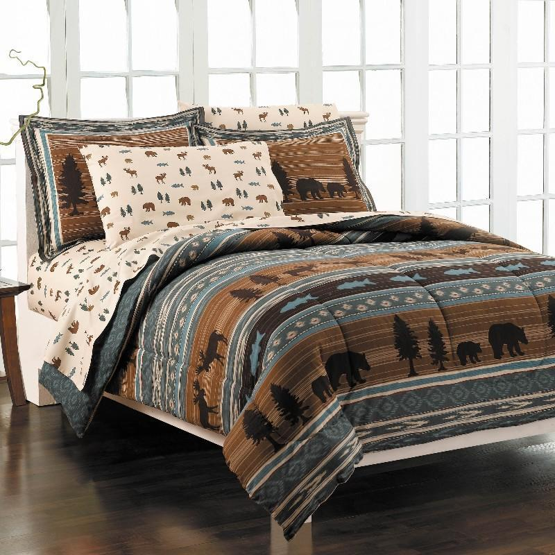 North Woods All Cotton 7 Piece Bedding Ensemble 11582952