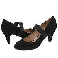 DKNY Mindy-Mary Jane Pump Black Fine Suede