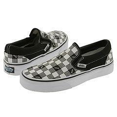 Vans Kids Classic Slip-On (Youth/Adult) Black (Vans Checkerboard)