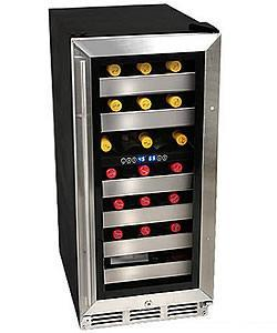 EdgeStar 26-bottle Built-in Dual Zone Wine Cooler