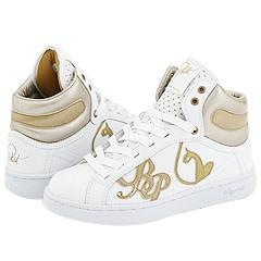 Baby Phat Glitter Cat High White/Gold