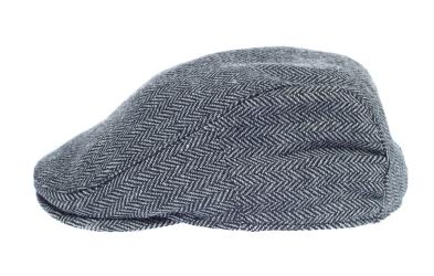 Newsboy Wool Blend Cap Paperboy Men Boy Gatsby Hipster Ivy Hat, Herringbone Grey