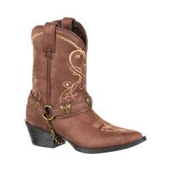 Girls' Durango Boot DBT0136 8in Heartfelt Lil' Crush Big Kid Boot Brown Synthetic