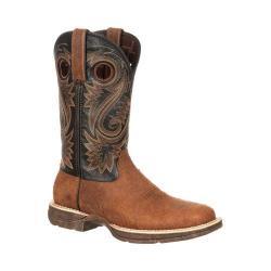 Men's Durango Boot DDB0076 12in Rebel Western Square Toe Boot Dark Brown/Black Leather