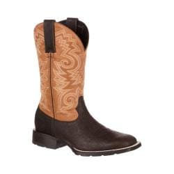 Men's Durango Boot DDB0082 12in Mustang Western Square Toe Boot Brown/Peanut Leather