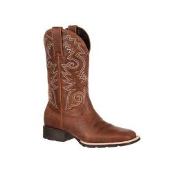 Men's Durango Boot DDB0083 12in Mustang Western Square Toe Boot Brown Leather