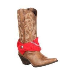 Women's Durango Boot DRD0089 12in Crush Bandana Boot Tan Synthetic