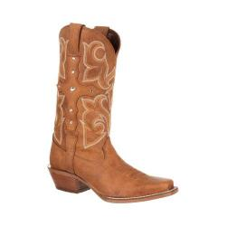 Women's Durango Boot DRD0090 12in Crush Cross Strap Boot Tan Leather