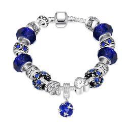 50 Shades of Aqua Blue Pandora Inspired Bracelet