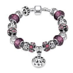 Vienna Jewelry Purple Fusion Pandora Inspired Bracelet