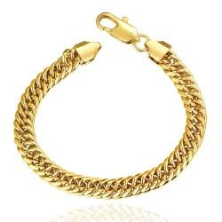 Vienna Jewelry 18K Gold Classic Chain Bracelet with Austrian Crystal Elements