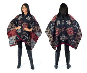 Women's Fall Winter Tribal Poncho