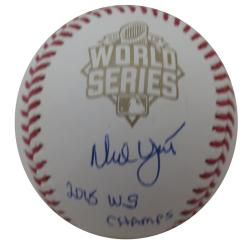 Ned Yost Autographed Authentic 2015 World Series Signed Baseball CHAMPS JSA COA 2