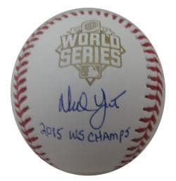 Ned Yost Autographed Authentic 2015 World Series Signed Baseball CHAMPS JSA COA 1