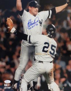 John Wetteland Autographed Yankees 1996 World Series MVP Signed 11x14 Baseball Photo JSA COA Photo