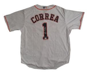 Carlos Correa Autographed Astros Authentic Signed Baseball Jersey Fanatics COA 1