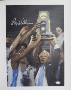 Roy Williams Autographed UNC Championship Small Signed Canvas Print JSA COA Photo