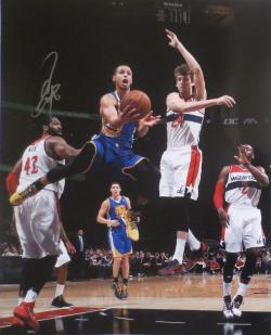 Stephen Curry Autographed Warriors Signed 16x20 Basketball Photo Photo