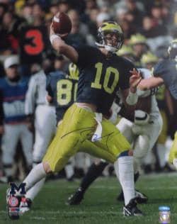 Tom Brady Autographed Michigan 16x20 Signed Football Photo TRISTAR COA Photo