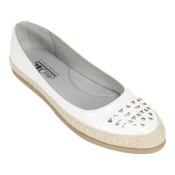 Women's Cliffs by White Mountain Cava Espadrille Flat White Smooth Synthetic