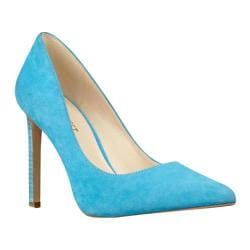Women's Nine West Tatiana Pump Turquoise Suede