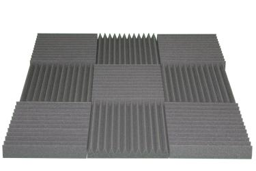 Acoustic Wedge Soundproofing Foam Wall Tile 2x12x12
