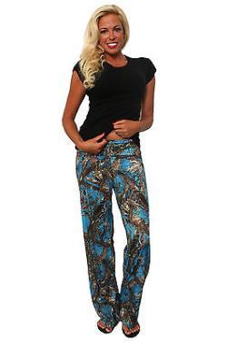 Women's Juniors Authentic True Timber Pants Camouflage Hunt Camo BLUE