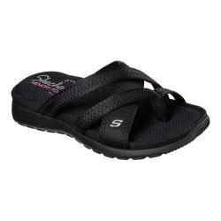 Women's Skechers Breeze Low Bright Star Thong Sandal Black