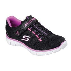 Girls' Skechers Relaxed Fit Empire Rock Around Bungee Lace Sneaker Black/Pink/Purple