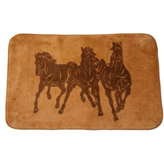 HiEnd Accents Three Horse Light Bathroom/Kitchen Rug