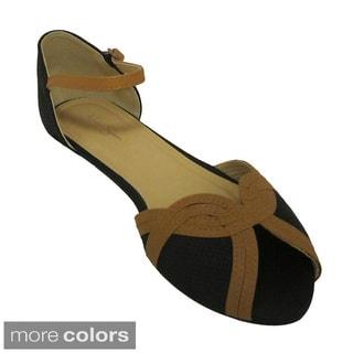 Nichole Simpson Women's Two-Tone Gladiator Sandal