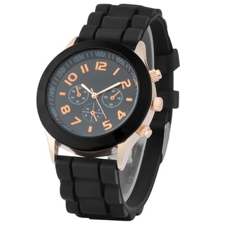 Zodaca Black Analog Quartz Silicone Jelly Sports Watch