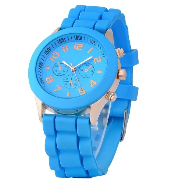 Zodaca Light Blue Analog Quartz Silicone Jelly Sports Watch