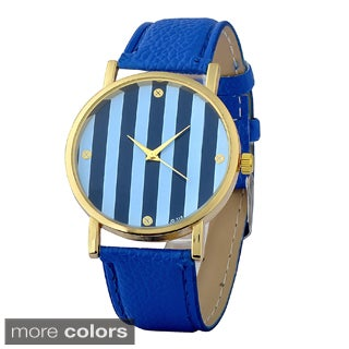 Zodaca Women's Simple Fashion Leather Stripe Watch