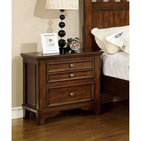 nightstand with built in outlet 1