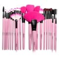 Zodaca 24-piece Set Pink Professional Beauty Make up Brushes Tool Set with Pouch Bag