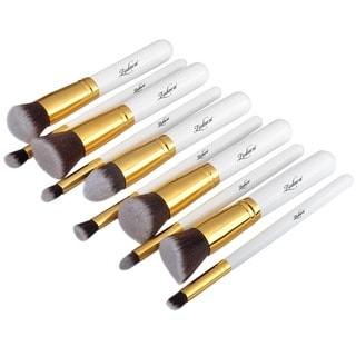 Zodaca 10-piece White Professional Beauty Make up Brushes Tool Set