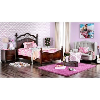 Furniture of America Miralle Dark Cherry Poster Bed