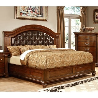 Furniture Of America Vayne Traditional Platform Bed Queen