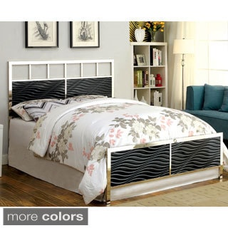 Furniture of America Hypno Metallic Headboard and Footboard Set