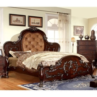 Furniture of America Tashir Traditional Style Cherry Platform Bed
