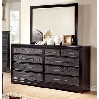 Furniture of America Stonehall Contemporary Grey 2-Piece Dresser and Mirror Set