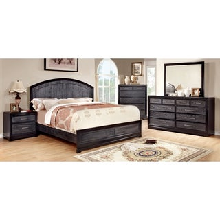 Furniture of America Stonehall I Contemporary Grey 4-Piece Bedroom Set