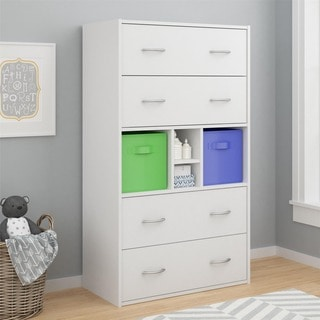 Altra Lucerne 4-drawer Dresser with Fabric Bins by Cosco
