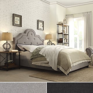 INSPIRE Q Harper Tufted High-arching Linen Upholstered Full-size Platform Bed