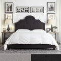 INSPIRE Q Harper Tufted High-arching Linen Upholstered Queen-size Platform Bed