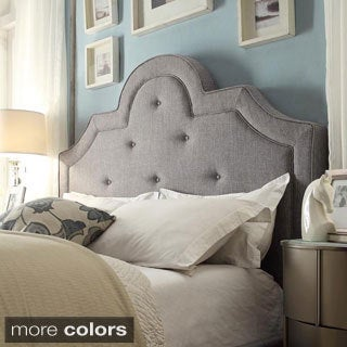 INSPIRE Q Harper Tufted High-arching Linen Upholstered King-size Headboard