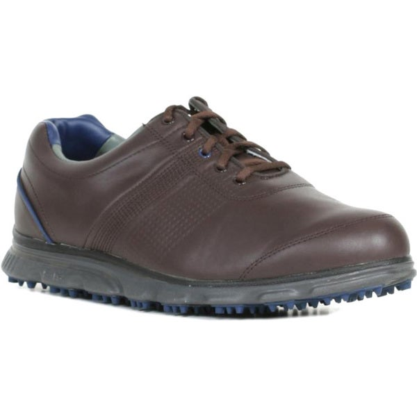 FootJoys Casual Mens Spikeless Dark Brown Golf Shoes