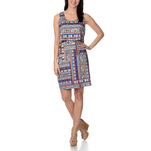 Lennie for Nina Leonard Women's Printed Popover Dress