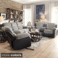 TRIBECCA HOME Coleford Two-tone Grey Black Reclining Living Room Set (Set of 3)